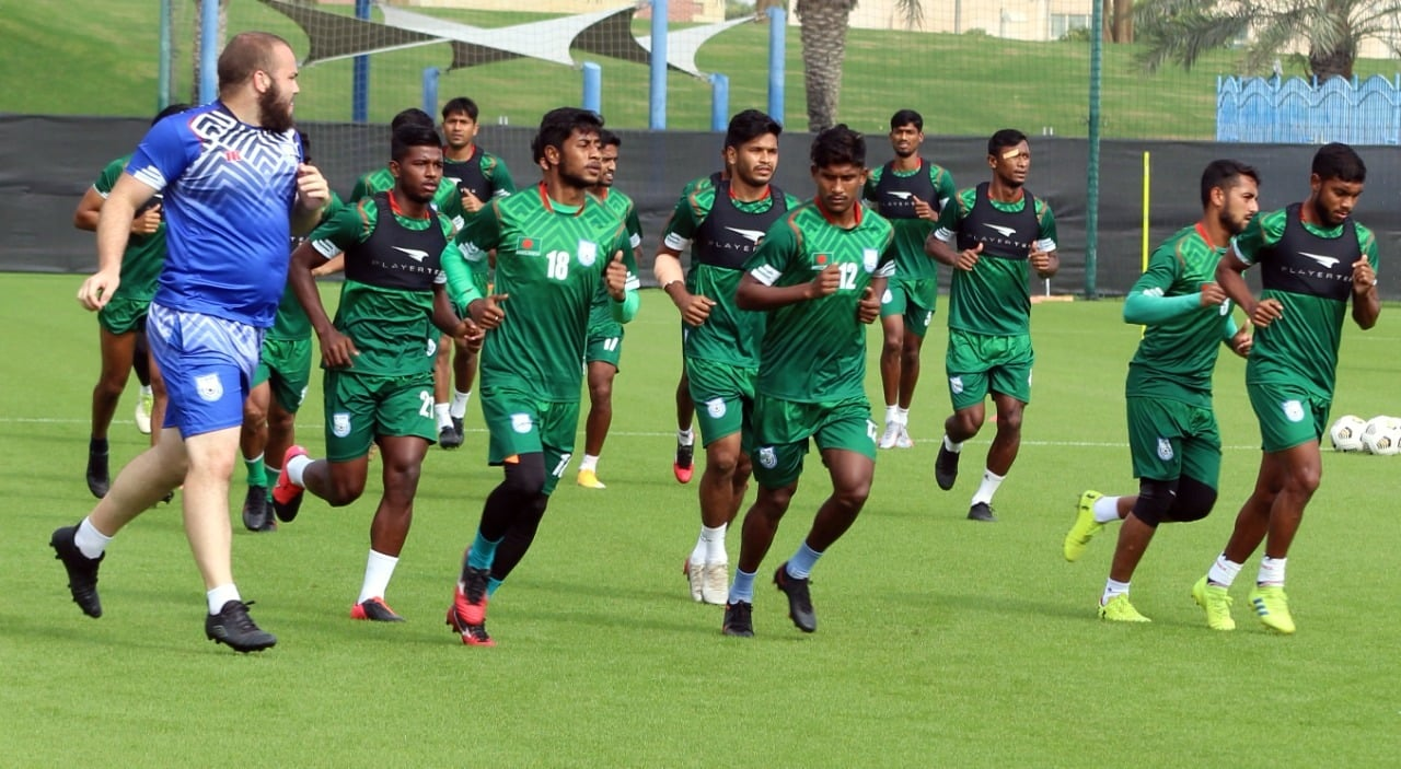 Bangladesh National Football Team is preparing for Qatar match