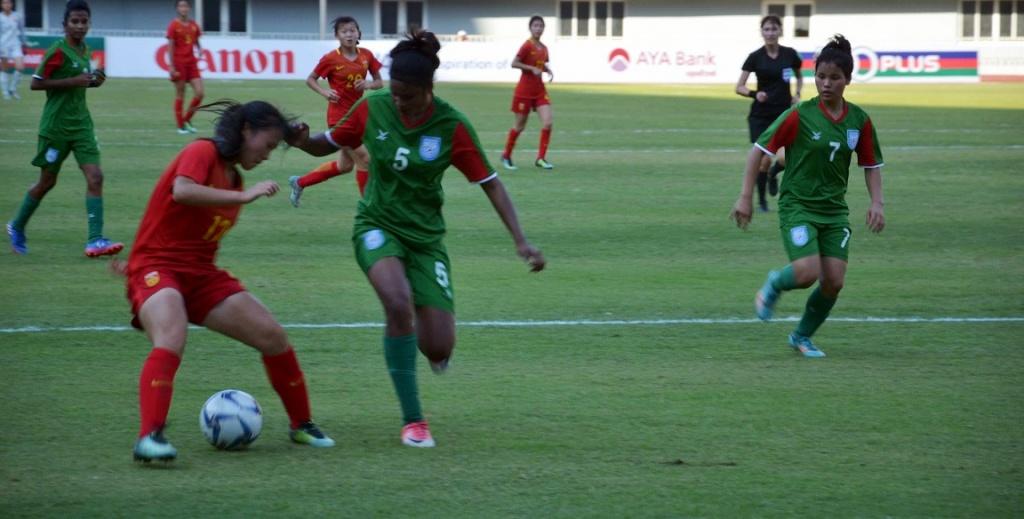 Fighting U16 girls go down 3-0 to China