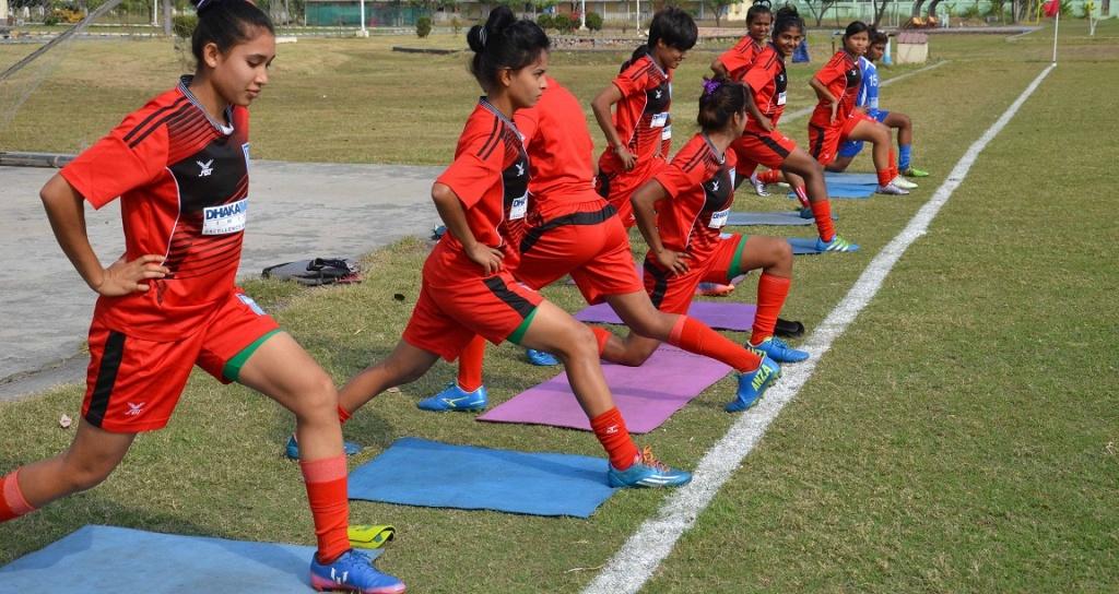 Senior girls busy training for SAFF Championship