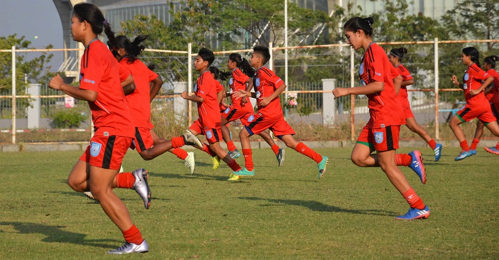 U16 girls begin training in Myanmar