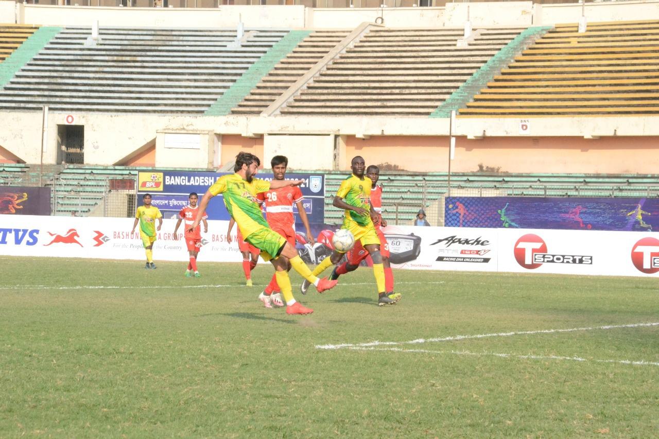 Bangladesh Muktijoddha SKC and Rahamatganj MFS draws the match