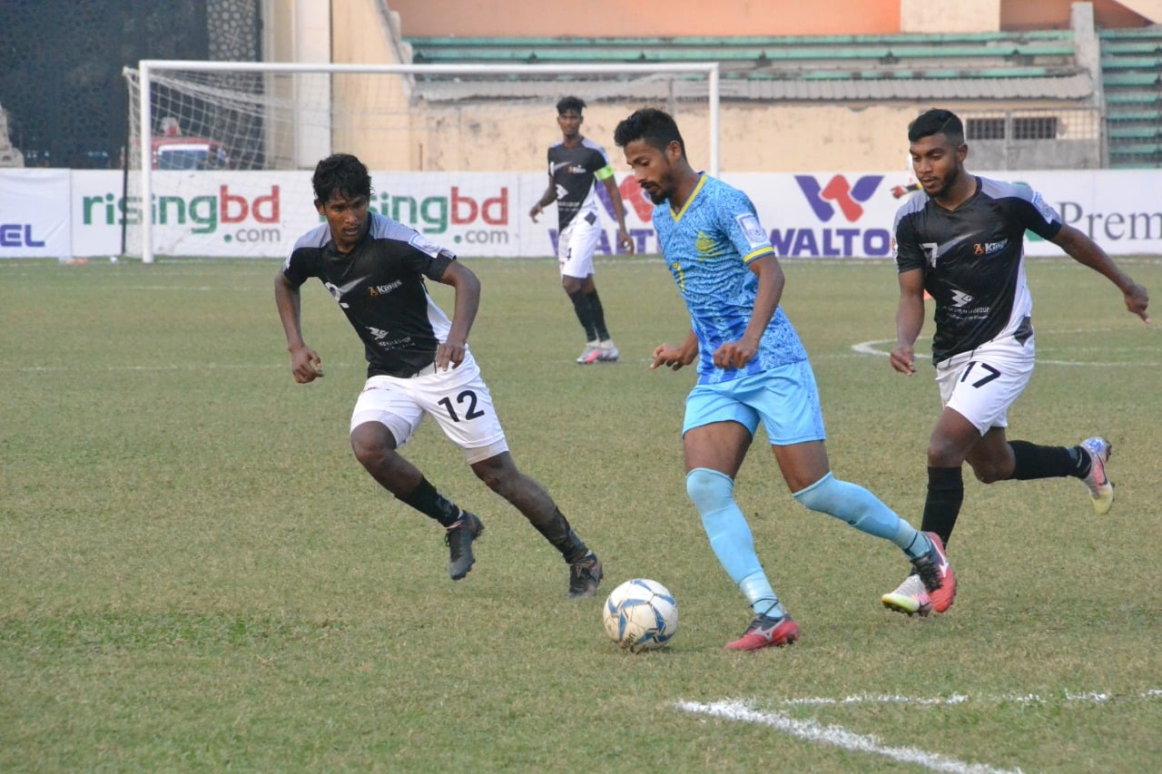 Bashundara Kings defeats Abahani Ltd. Dhaka
