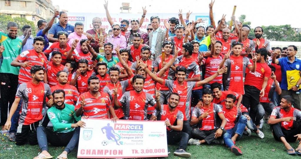 Bashundhara Kings crowned champions of BCL 2017