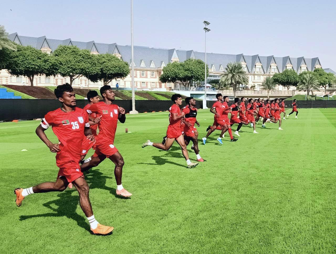 Bangladesh National Team is preparing themselves for upcoming matches on Qatar.