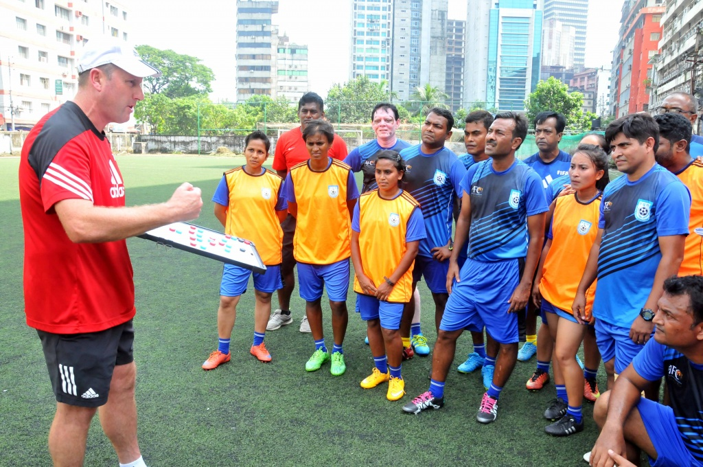 BFF AFC 'B' Certificate Coaching Course: First phase a success
