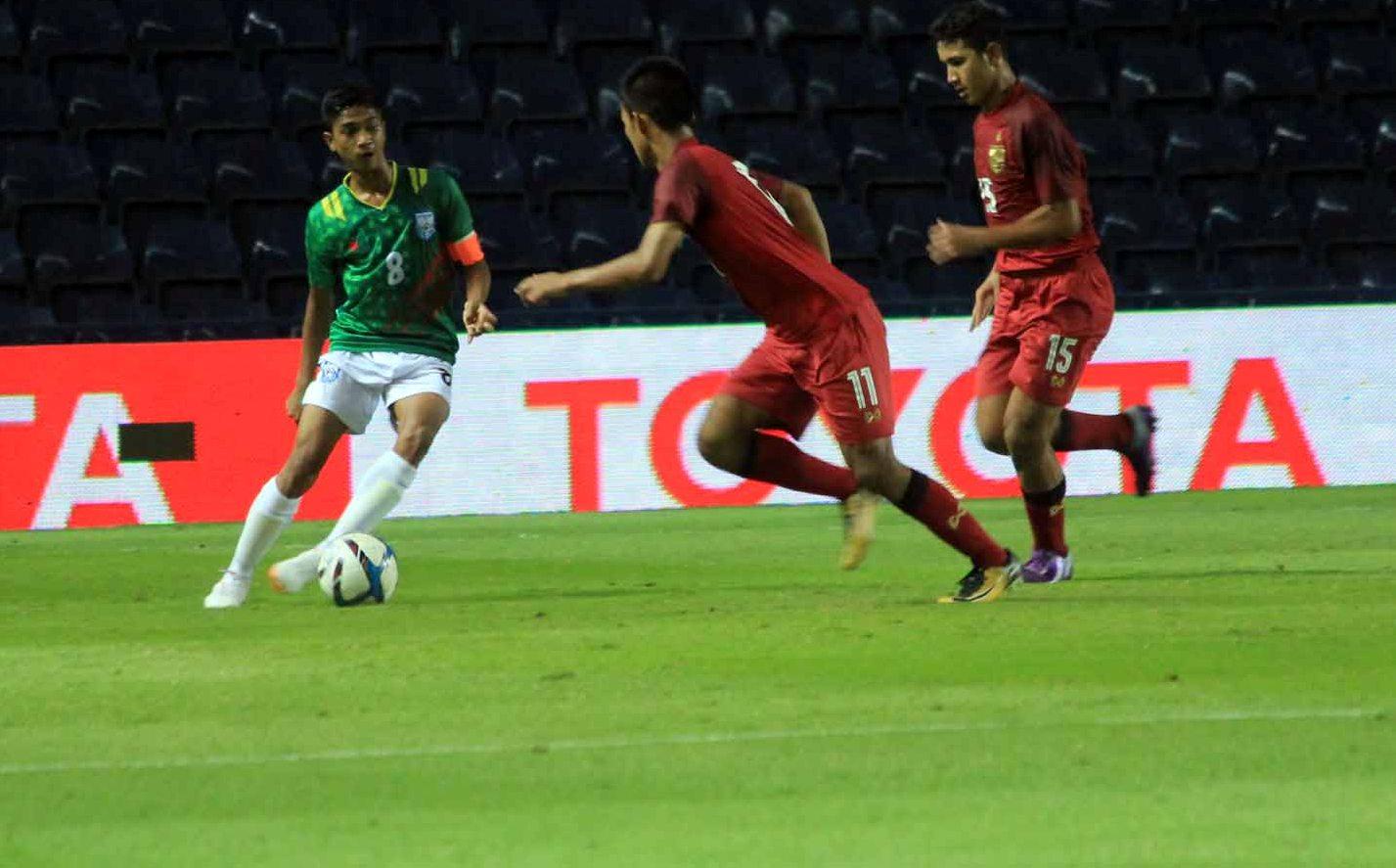 UEFA tournament: U15 boys draw 1-1 with Thailand