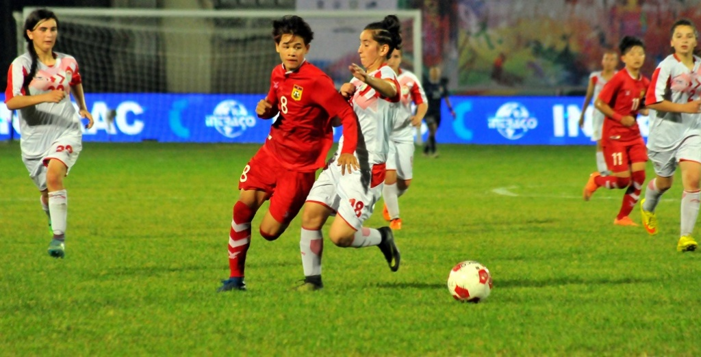 LAO 6-0 TJK: Another goal fest for Lao girls