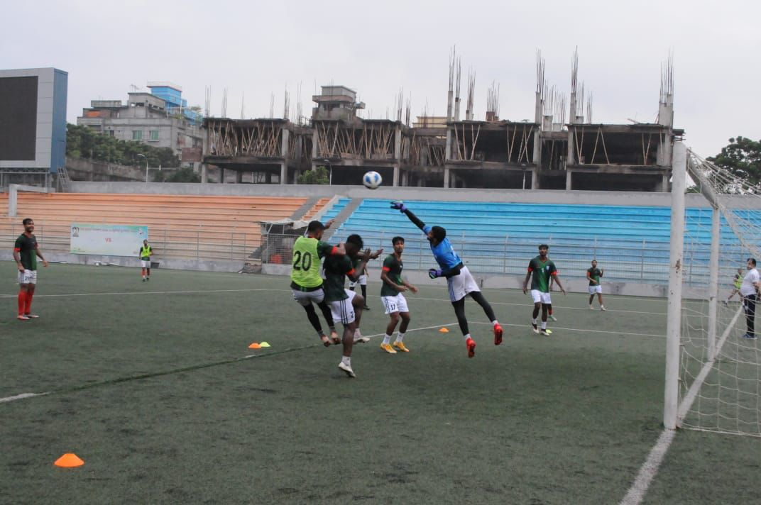 Bangladesh U-23 national football team started practice to participate in the AFC A-23 Asian Cup