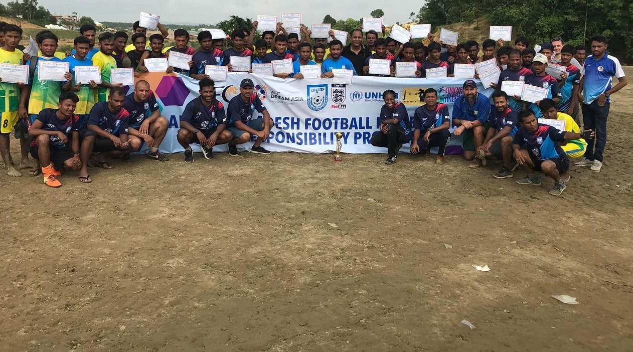 BFF organises coaching education, football matches for Rohingyas