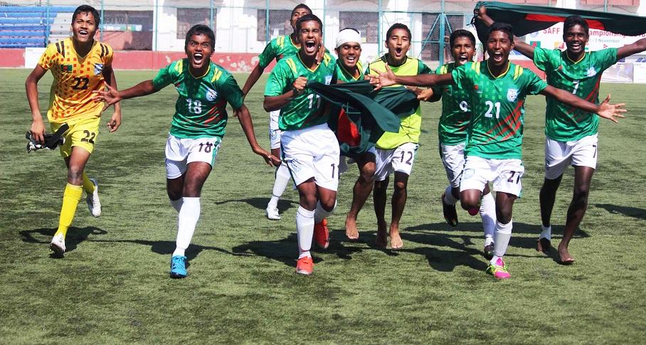 U15 boys become unbeaten SAFF champions