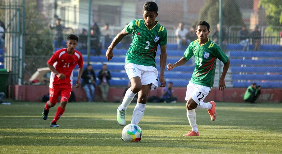 U15 boys through to SAFF semis beating Nepal 2-1