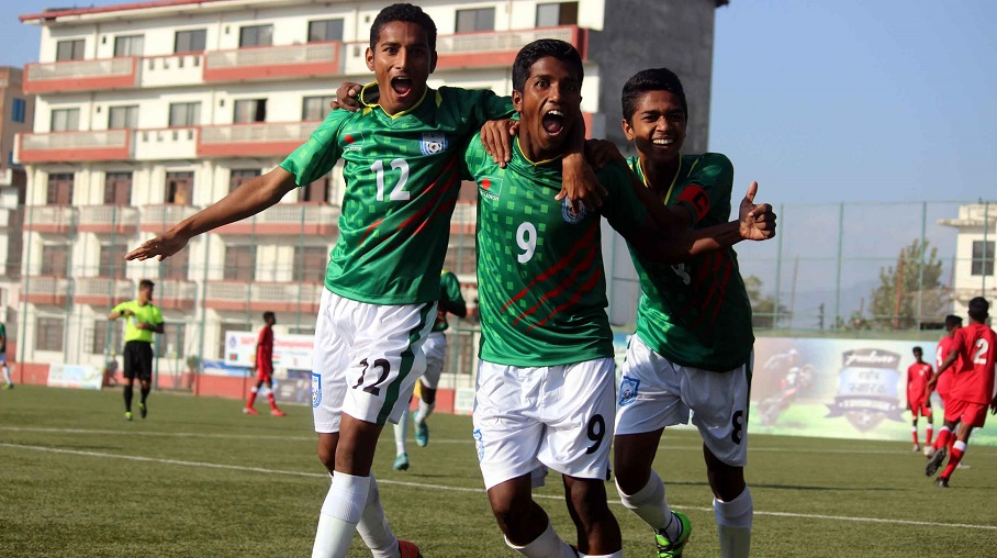 U15 boys toy with Maldives to register 9-0 win