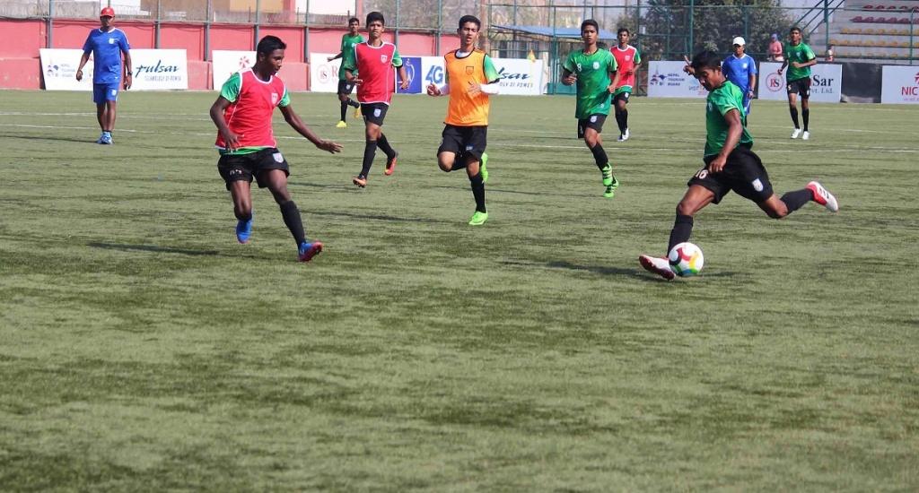 U15 boys settling-in in Nepal