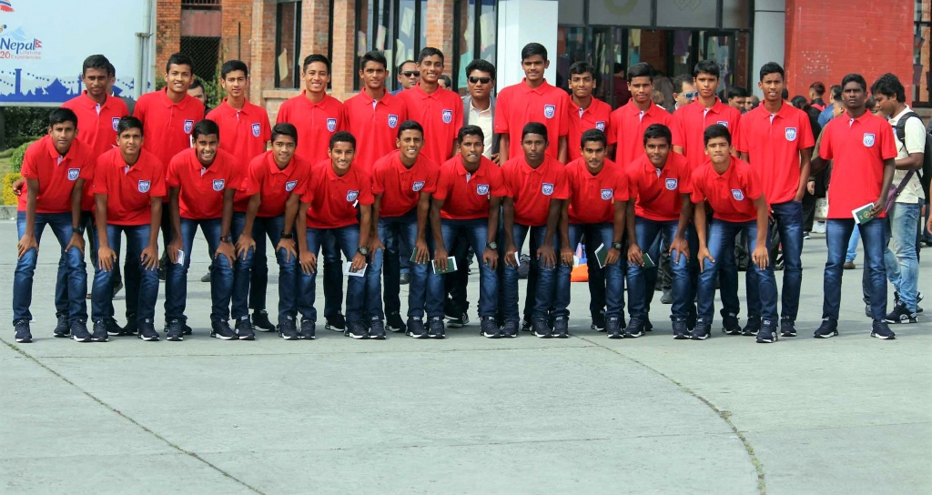 U15 boys in Nepal for SAFF Championship