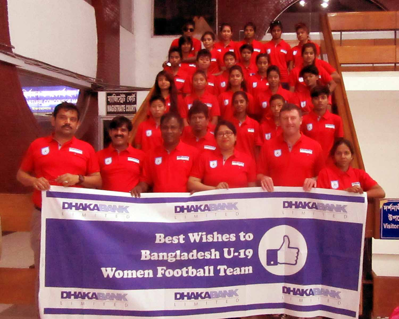 BD U-19 Women's Team reaches Tajikistan for AFC U-19 qualifiers