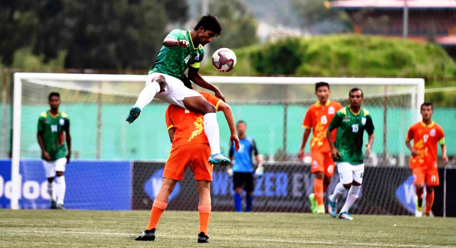 SAFF U18: Bangladesh rout hosts Bhutan 2-0 in their final match