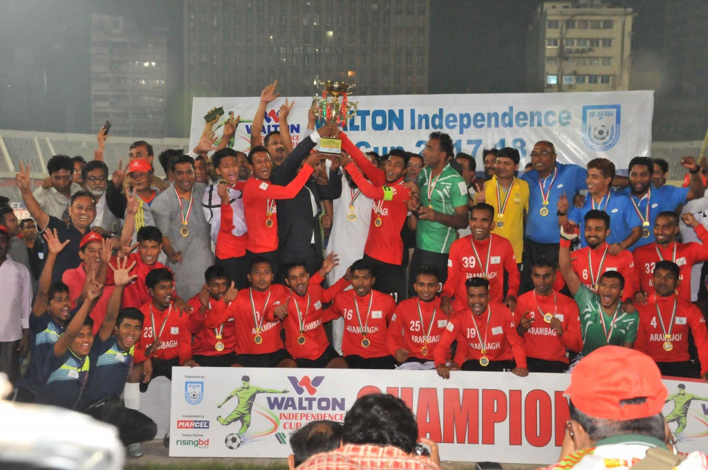 Arambagh surprise Ctg Abahoni to claim maiden Independence Cup title