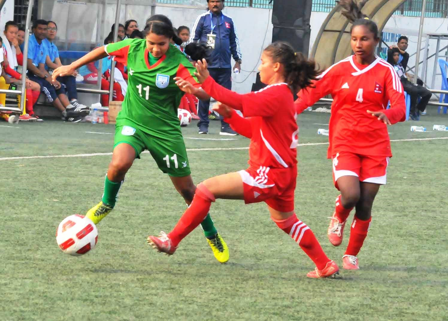 U-15 girls start SAFF Championship journey with 6-0 win over Nepal