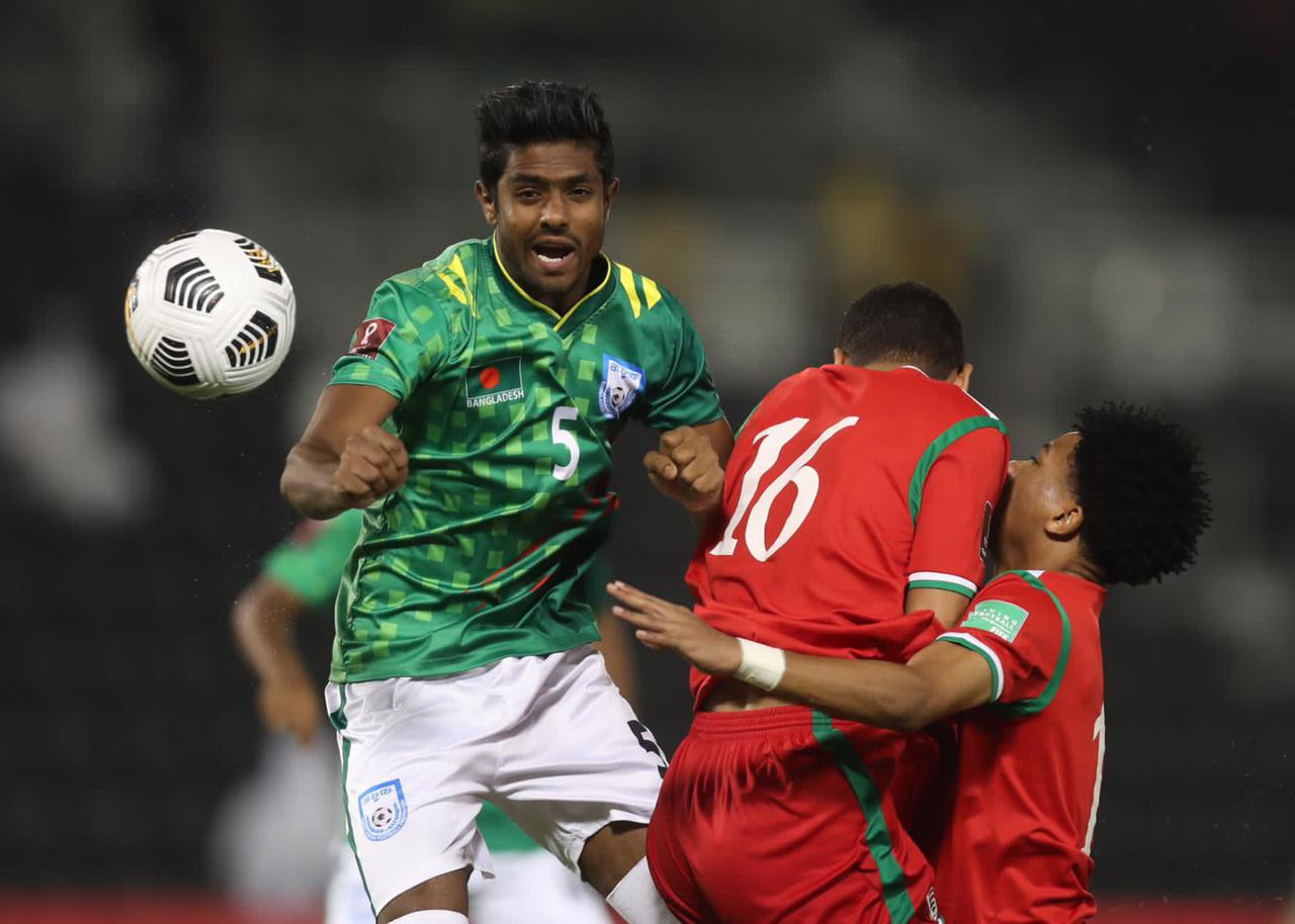 Bangladesh loses to Oman by 3-0 goals