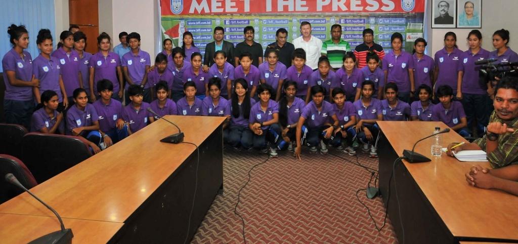 BFF President meets U16 and U18 girls