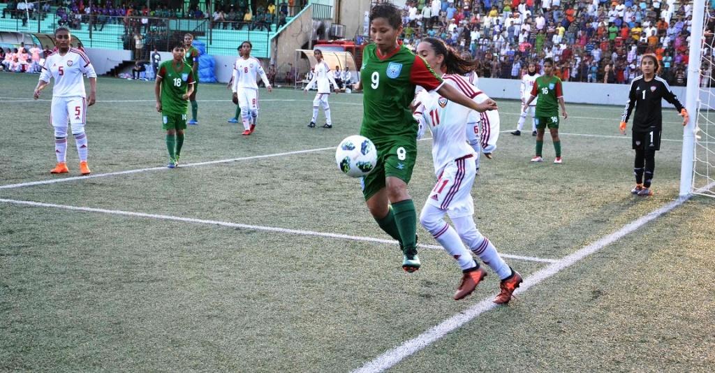 U16 girls thrash UAE 7-0