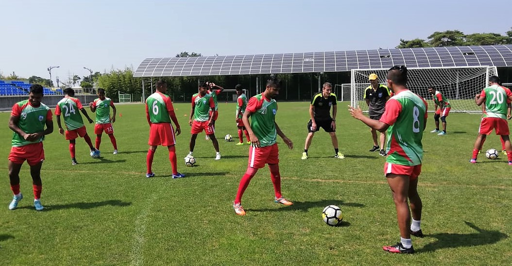 Two training sessions a day for national team in S. Korea