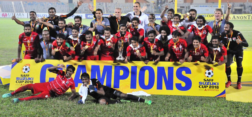 Maldives claim 2nd SAFF crown beating India 2-1