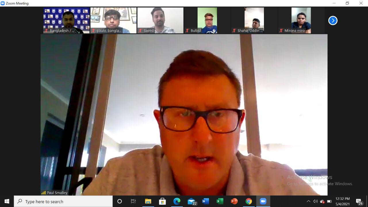 Technical Director Paul Thomas Smalley arranges a virtual meeting