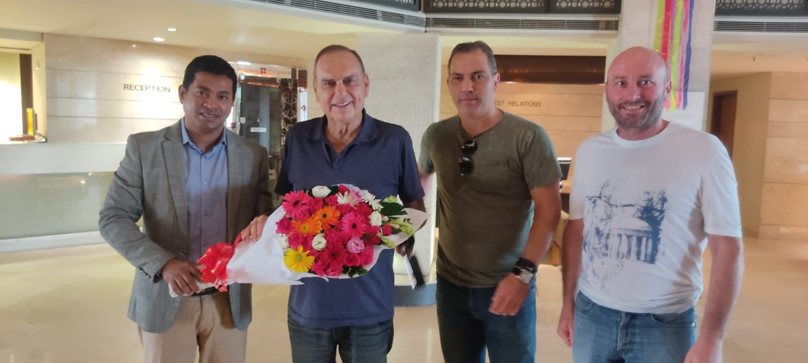 Chelsea Football Club and former coach of the Ghana national football team Mr. Abraham Grant arrived in Bangladesh