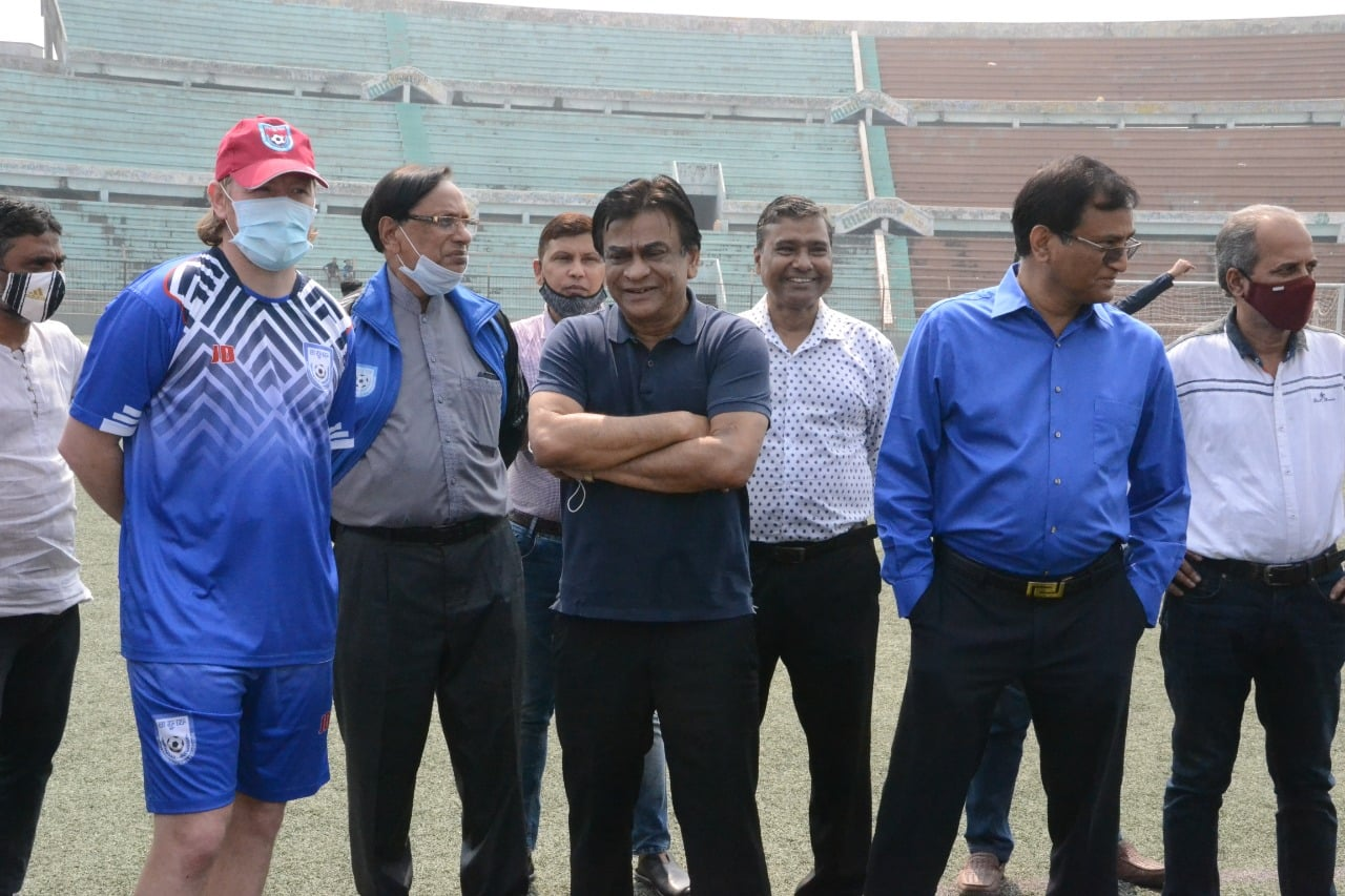 Hon'ble BFF President Kazi Md. Salahuddin Pays a visit at today's Talent Hunt Match
