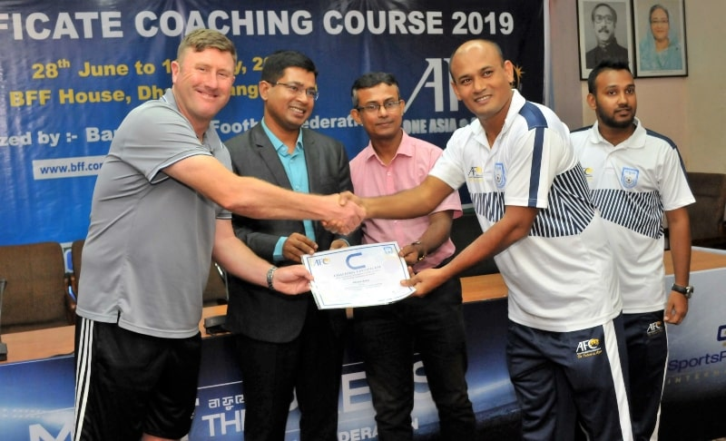 BFF AFC C Certificate Coaching Course ends on a high